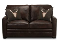 Antler Leather Loveseat