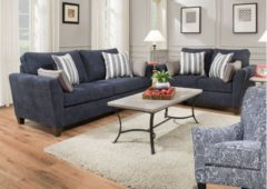 Kelton Navy 2pc Living Room