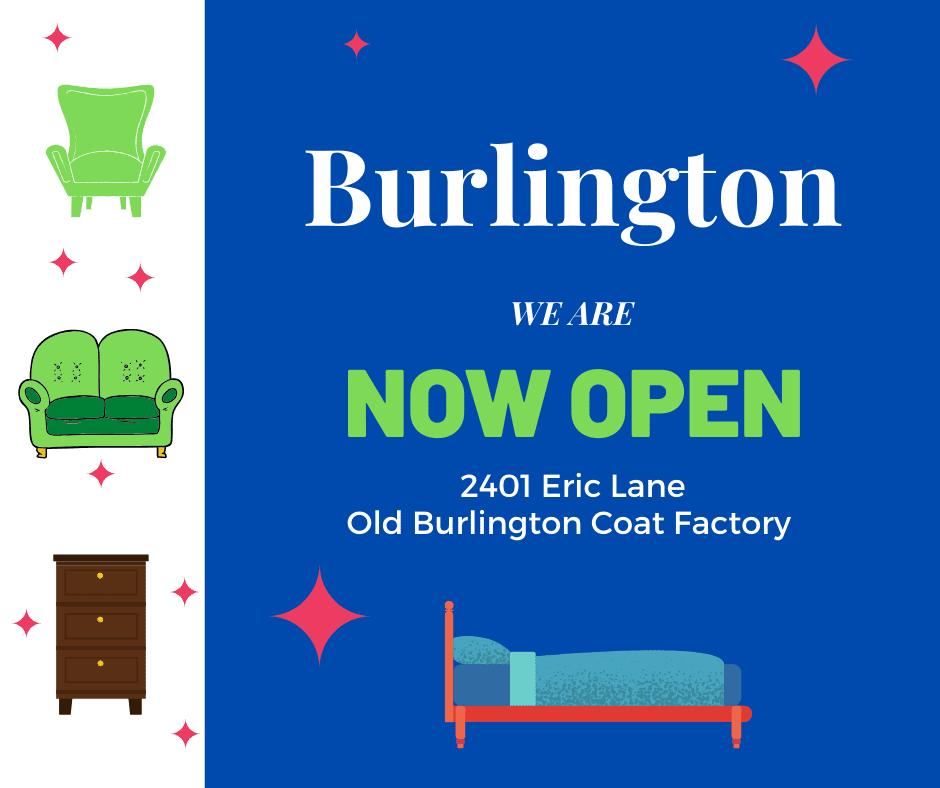 We are open in Burlington
