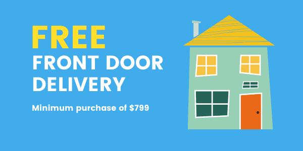Free front door delivery